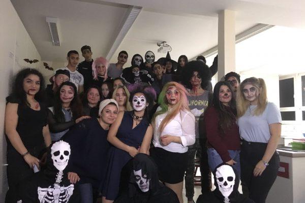 Halloweenparty in den Berufseinstiegsklassen