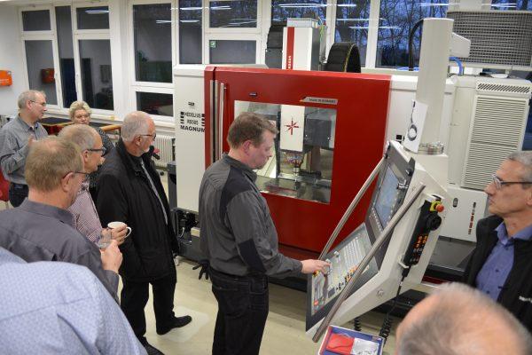 Einweihung der neuen CNC-Maschine