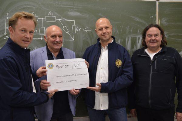 Lions Club Delmenhorst spendet für BES – Theaterprojekt