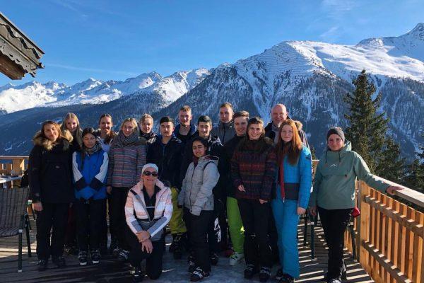 Berufliche Gymnasien auf Skikurs in Kappl